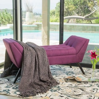 Demi Tufted Fabric Ottoman Bench by Christopher Knight Home