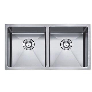 StarStar Silvertone 16-gauge Stainless Steel 32.75-inch Double-bowl Undermount Kitchen Sink with Accessories