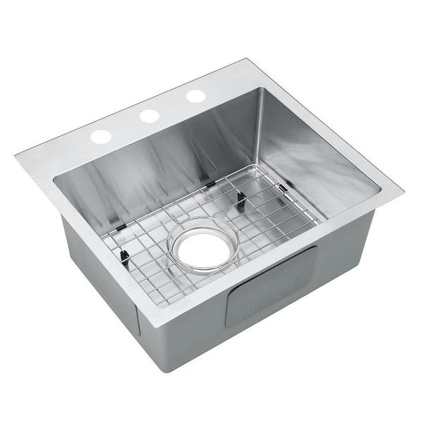 Starstar silver colored stainless steel 25 inch 16 gauge for Colored stainless steel sinks