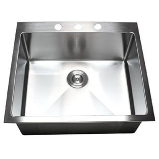 Starstar 304 Stainless Steel 25-inch Single-bowl Top-mount Kitchen Sink