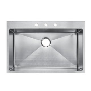 Starstar 16-gauge 304 Stainless Steel 30-inch x 22-inch Single-bowl Top-mount Drop-in Kitchen Sink