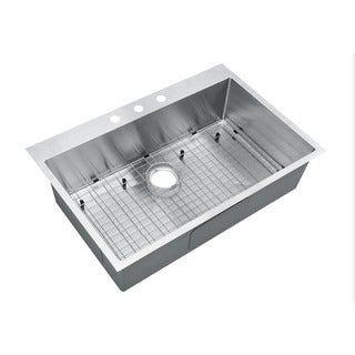 Starstar Stainless Steel 33-inch Single-bowl Top-mount Kitchen Sink with Grid and Strainer
