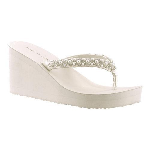 88149e650519a7 Shop Women s Touch Ups Shelly Thong Wedge Sandal Diamond White Synthetic -  Free Shipping On Orders Over  45 - Overstock - 12023879