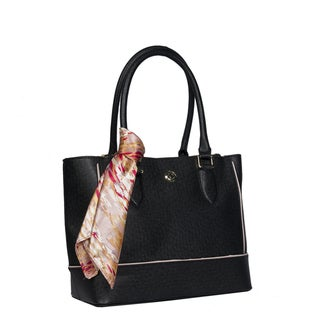 London Fog Rita Satchel Handbag with Scarf