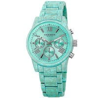 Akribos XXIV Women's Swiss Quartz Multifunction Turquoise Bracelet Watch