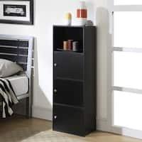 Convenience Concepts Designs2Go Xtra Black Wood 3-door Storage Cabinet