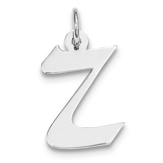Versil Sterling Silver Medium Artisan Block Initial Z Charm Necklace