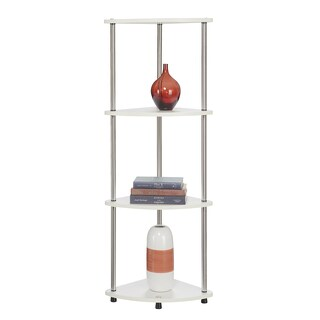 Convenience Concepts Designs2Go Black Steel/Wood 4-tier Corner Shelf (2 options available)