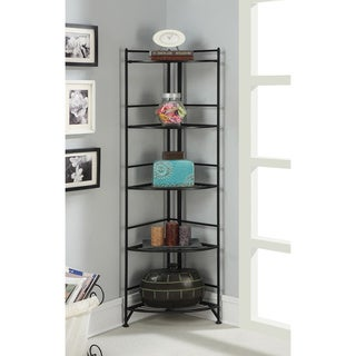 Convenience Cocepts Designs 2 Go Metal 13.75-inch x 13.75-inch x 58-inch 5-tier Folding Corner Shelf