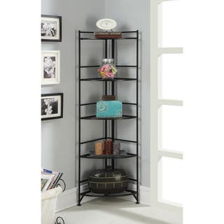 Convenience Cocepts Designs 2 Go Metal 13.75-inch x 13.75-inch x 58-inch 5-tier Folding Corner Shelf|https://ak1.ostkcdn.com/images/products/12024651/P18898916.jpg?impolicy=medium