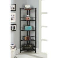 Porch & Den Bywater Ferdinand Metal 13.75 x 58-inch 5-tier Folding Corner Shelf