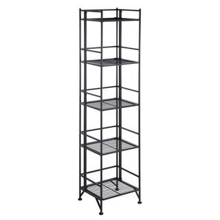 Convenience Concepts Designs2Go White/Black Metal 5-tier Folding Shelf