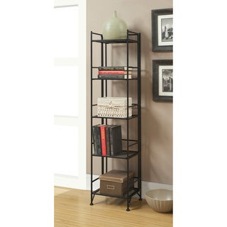 Convenience Concepts Designs2Go White/Black Metal 5-tier Folding Shelf