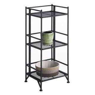 Convenience Concepts Designs2Go White/Black Metal 3-tier Folding Shelf