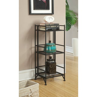 Convenience Concepts Designs2Go White/Black Metal 3-tier Folding Shelf