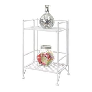 Convenience Concepts Designs2Go Black Metal 2 Tier Folding Metal Shelf