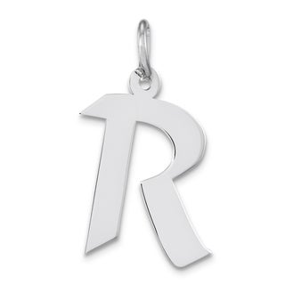 Versil Sterling Silver 18-inch Chain R Charm