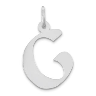 Versil Artisan Block Sterling Silver 18-inch Chain Initial G Charm