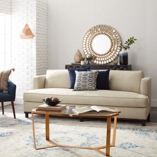 Mia Klein Platinum Ivory Fabric Sofa