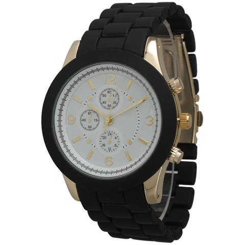 Olivia Pratt Women's Ceramic Style Boyfriend Bracelet Watch
