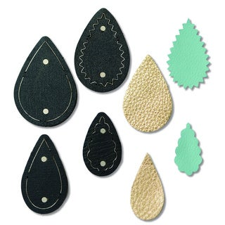 Sizzix Movers & Shapers Teardrop Stack by Jill MacKay Magnetic Die Set