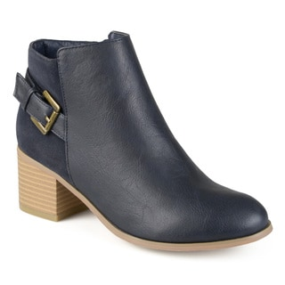 Journee Collection Women's 'Teegan' Buckle High Heel Booties