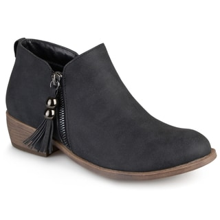 Journee Collection Women's 'Kizzy' Faux Leather Zipper Ankle Boots