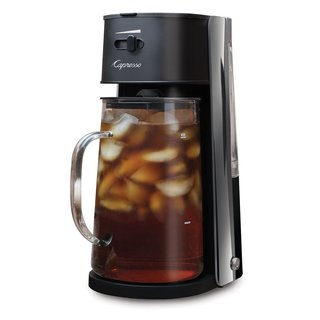 Capresso Iced Tea Maker + 80-Ounce Glass Carafe and Removable Water Tank (Black)