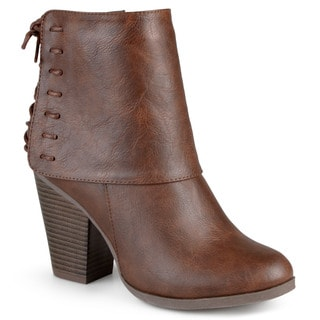 Journee Collection Women's 'Aspen' Corset Lace High Heel Boots