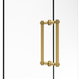 Allied Brass 12-inch Contemporary Back-to-back Shower Door Pull with Dotted Accent