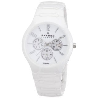 Skagen Women's 817SXWC1 Multi-Function White Ceramic Watch