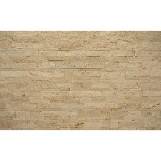 Bedrosians Med Beige Split Face Panel Stone Tile (Box of 5 Tiles)