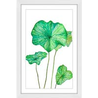 Marmont Hill 'Lotus Leaf' Framed Painting Print