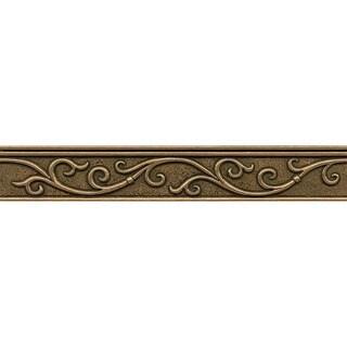 Bedrosians Gothic Leaf Liner Bronze Metal Resin Single Tile