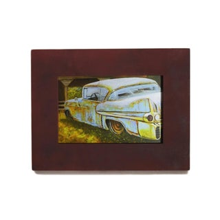 'Vintage Cadillac' Sublimated Metal Wall Art