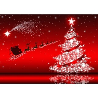 Santa's On His Way Red Metal Sublimation Print Profession/Commercial Wall Art