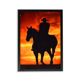 Cowboy Sunset Metal Sublimation Print Wall Art
