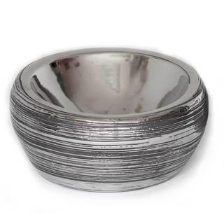 Tavia Silver Ceramic Bowl