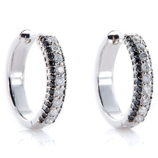 EFFY Final Call 14k White Gold 1/4ct TDW Diamond and 1/5ct TDW Black Diamond Earrings