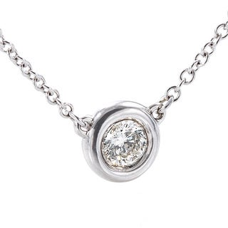 EFFY Final Call 14k White Gold 1/5ct TDW Diamond Circle Necklace (H-I,I1-I2)