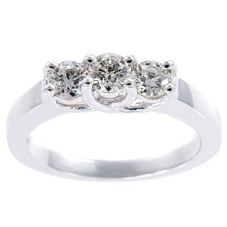 EFFY Final Call 14k White Gold 3/4ct TDW Three-stone Diamond Ring (H-I, I1-I2)