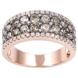 EFFY Final Call 14k Rose Gold 1 4/5ct TDW Espresso Diamond Ring