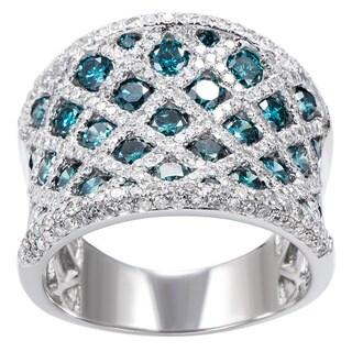 EFFY Final Call 14k White Gold 3ct TDW Blue Diamond Ring