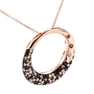 EFFY Final Call 14k Rose Gold Black/ Espresso Diamond Pendant