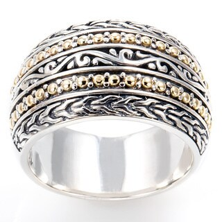 EFFY Final Call Sterling Silver/18k Yellow Gold Filigree Ring (Size 7)