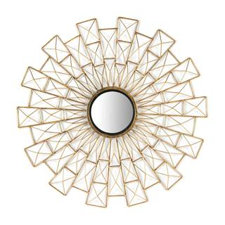 Tarquin 02-00832 Goldtone Metal 36-inch Round Wall Mirror