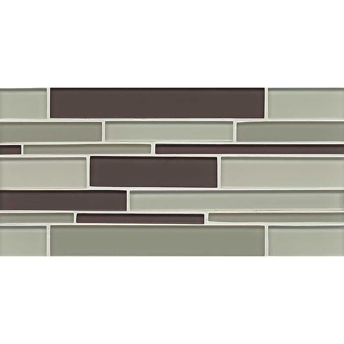 Bedrosians Hampton Collection Brown and Green Glass Tile ...
