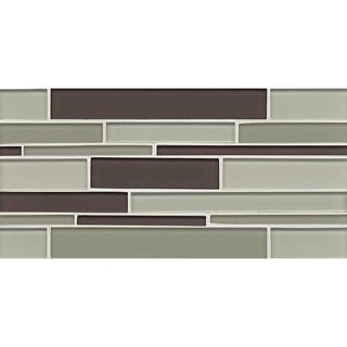 Hampton Collection Brown and Green Glass Tile (10 Sheets per Case)