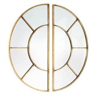 Luca Goldtone Metal Wall Mirror (Set of 2)