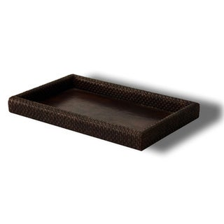 Hand Woven Leather Tray (India)
